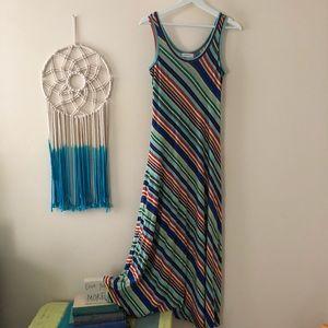 Calvin Klein Striped Maxi dress size 2